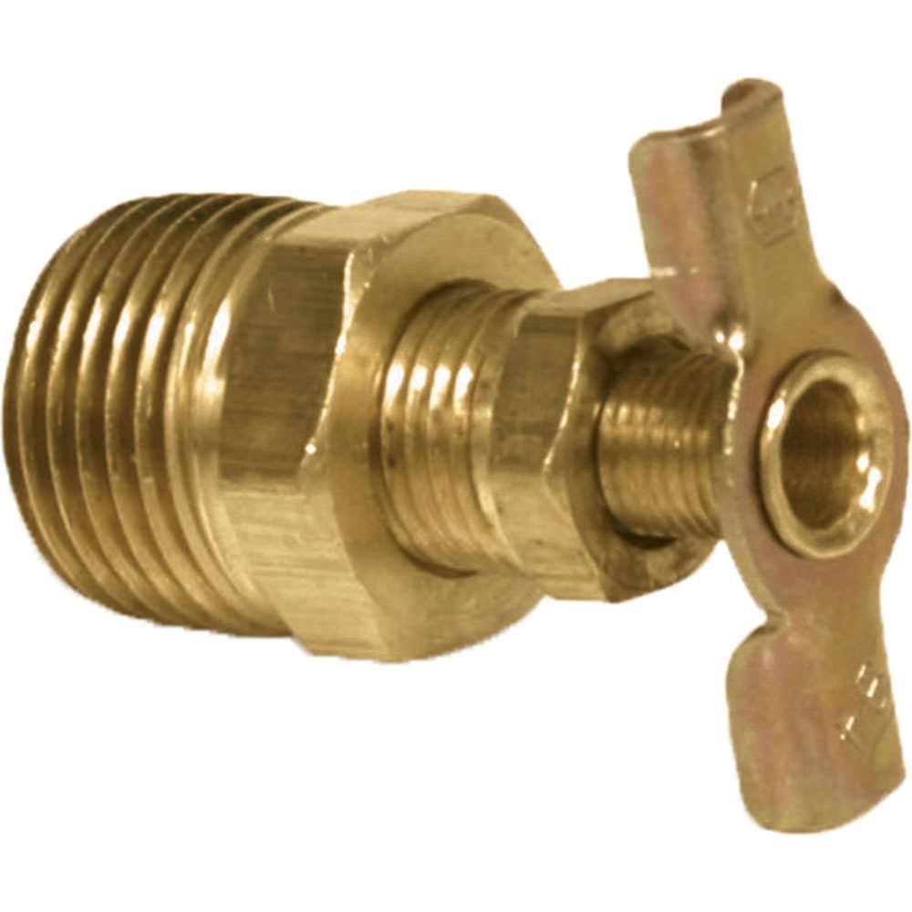 Brass Water Heater Drain Valve, 1/2\
