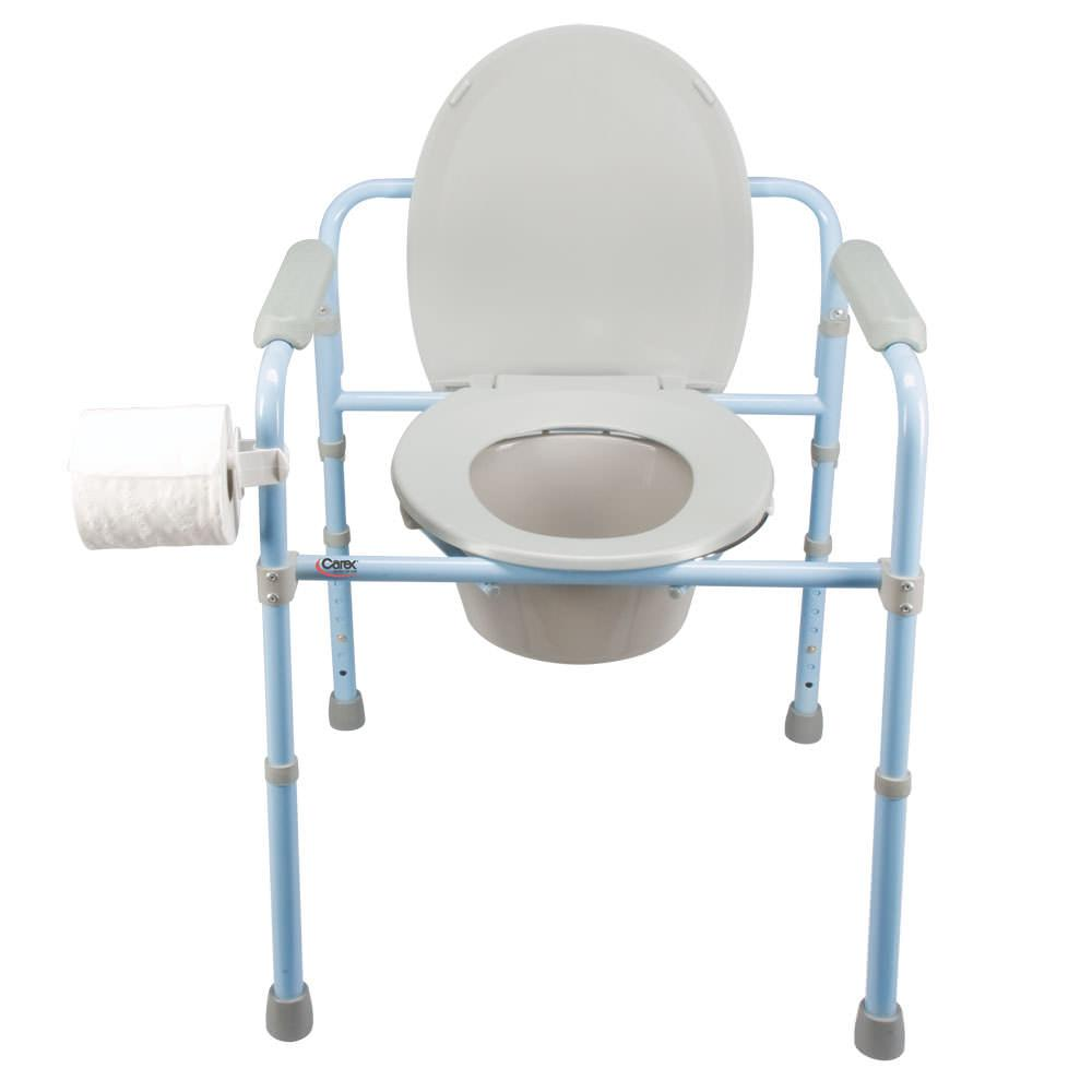 Deluxe folding commode carex health brands b34100 portable toilets camping world - Camif commode ...