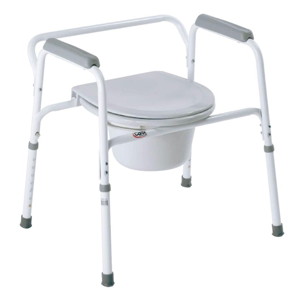Bedside steel commode carex health brands b35711 portable toilets camping world - Camif commode ...
