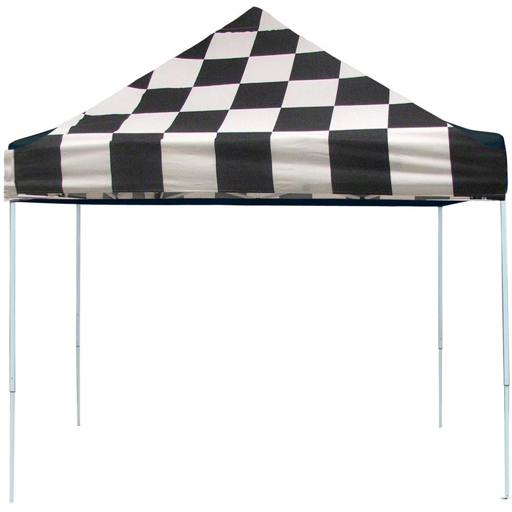 10x10 pro series popup canopy checkered flag