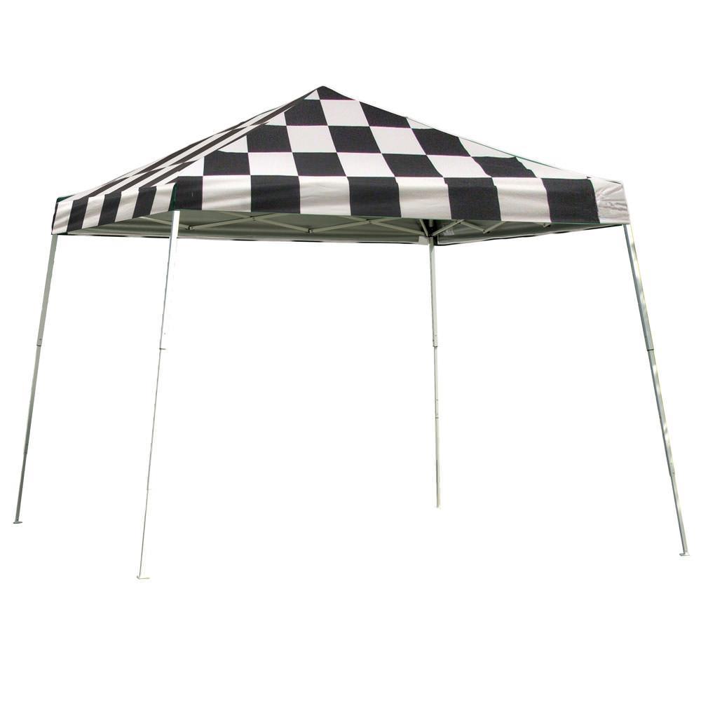 Element Instant Canopy : Sports series slant leg canopy checkered flag