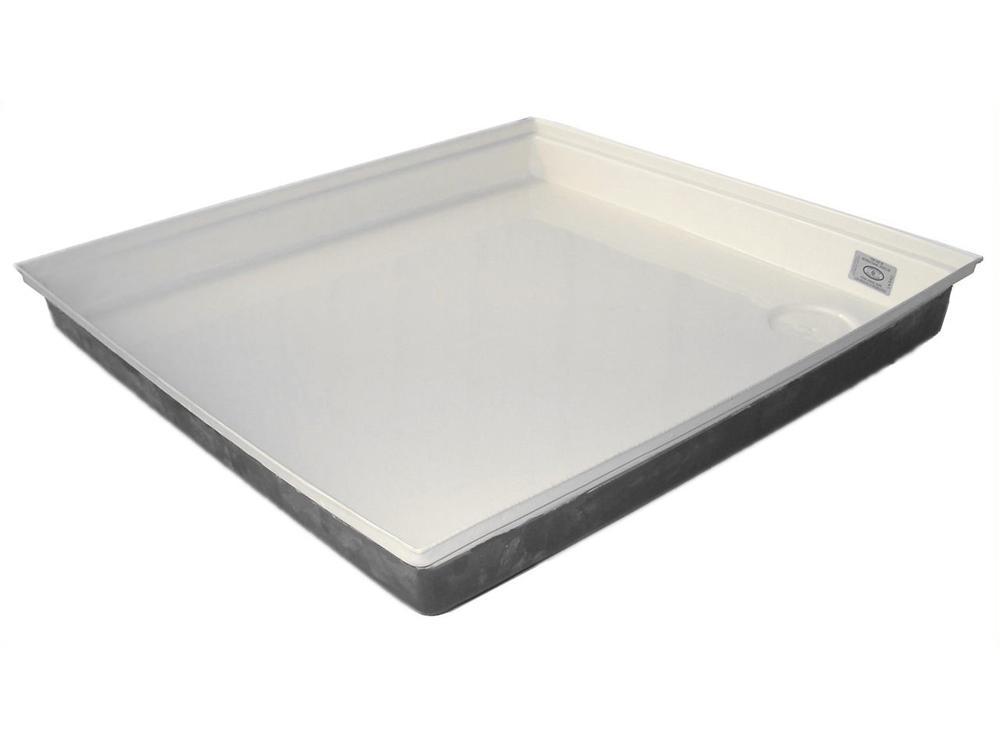 Portable Shower Base : Shower pan sp polar white icon technologies