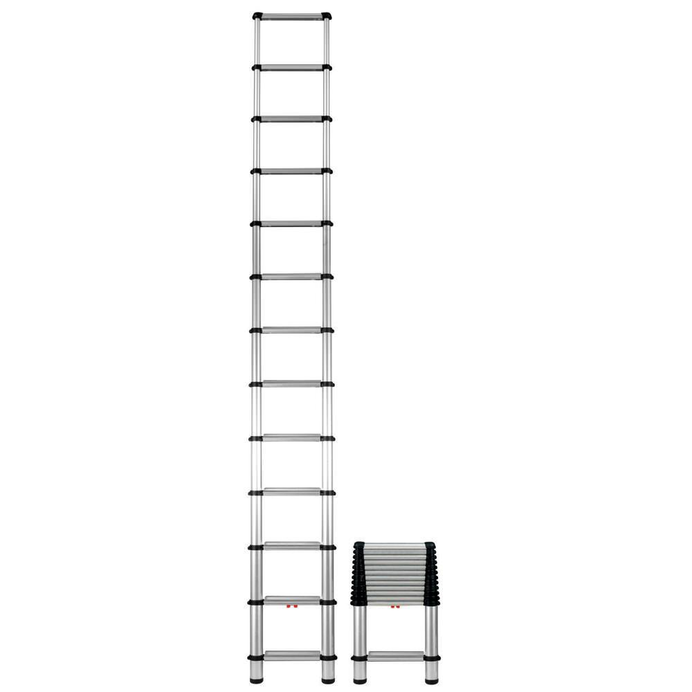Collapsible Ladder 10 Ft : Foot telescoping extension ladder regal ideas e