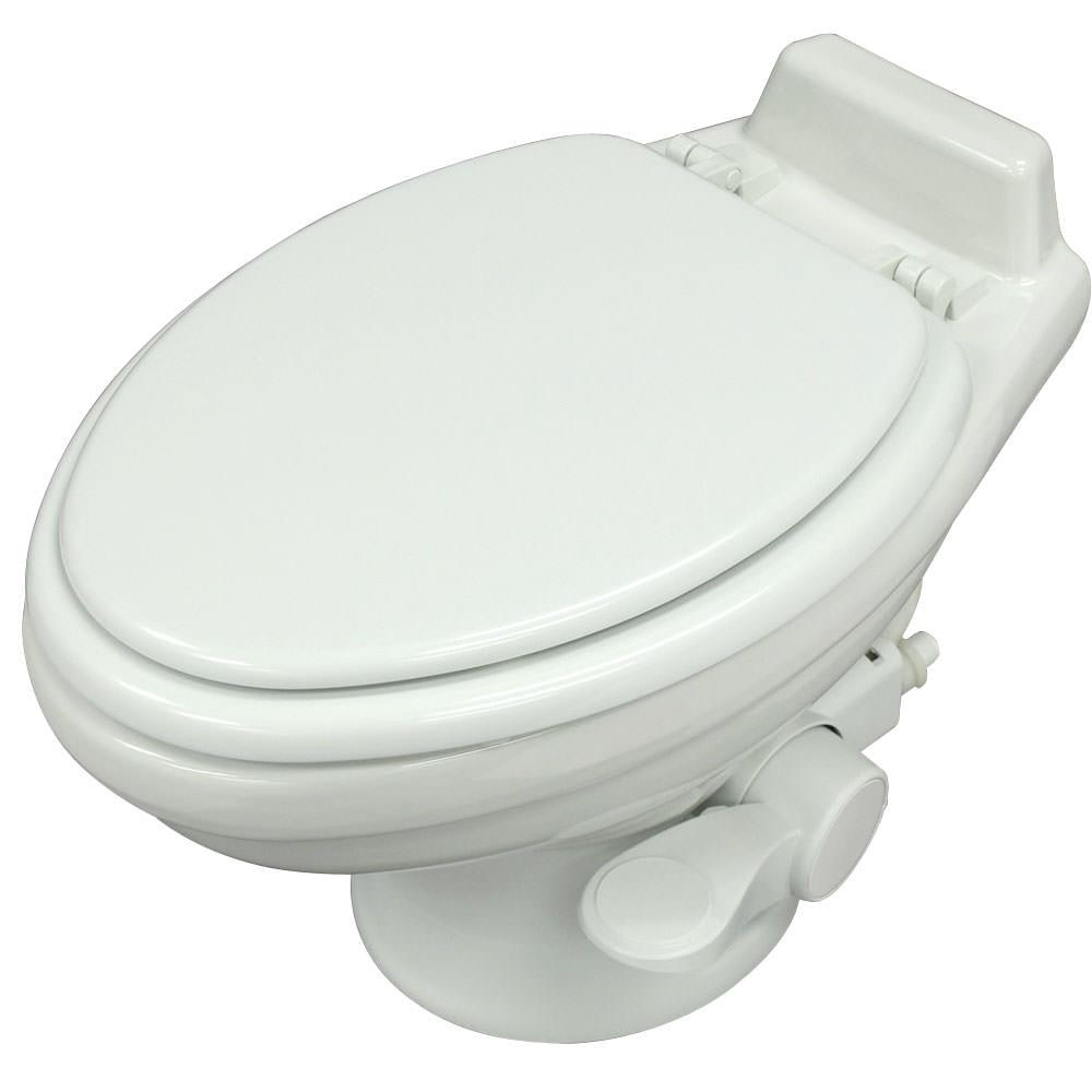 Dometic Low Profile 320 Series Gravity Discharge Toilets  White