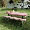 Tablecloth & Padded Bench Cushions