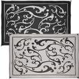 Reversible Vine Patio and Door Mat Sets - Black