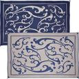 Reversible Vine Patio Mat - Blue
