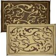 Reversible Vine Patio and Door Mat Sets - Brown