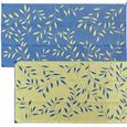 Leaf 8' x 16' Reversible Patio Mats - Blue