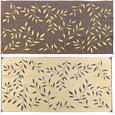 Leaf 8' x 16' Reversible Patio Mats - Brown