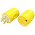 30 Amp RV Female to 20 Amp 4-Prong Twist Lock Male Generator Adapter