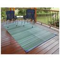 Blue Stripe Patio Mat, 6' x 9'