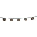 Bronze Scroll Lights, 10 Mini Bulbs