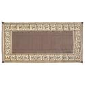 Greek Key 8 x 16 Reversible Patio Mat - Brown