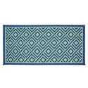 Diamond 8 x 16 Reversible Patio Mat - Green