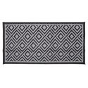 Diamond 8 x 16 Reversible Patio Mat - Black