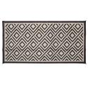 Reversible Diamond Patio Mat 8' x 16' - Brown