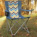 Blue Chevron Bag Chair