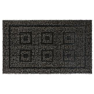Patio Mat, AstroTurf, Panel Design, 18'x30', Black/Gray