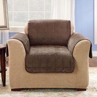 "Deluxe Pet Chair Throw - 26"" Width, Brown"