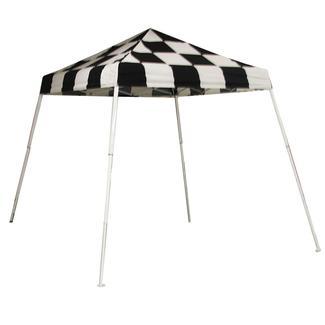 8X8 Sports Series Slant Leg Canopy - Checkered Flag