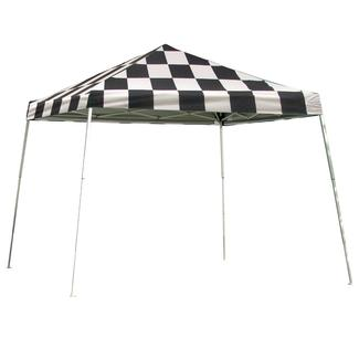 12X12 Sports Series Slant Leg Canopy - Checkered Flag