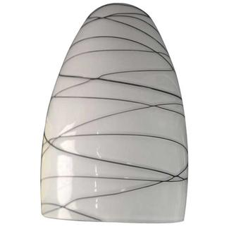 Contemporary Style Blown Glass Globe - Chocolate Swirl