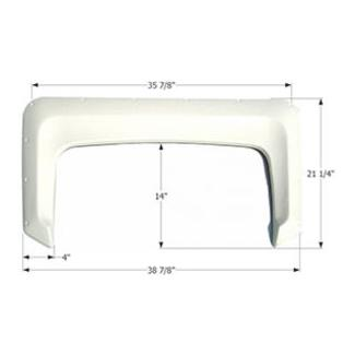 Single Axle Fender Skirt FS300 - Polar White
