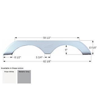 R-Vision Tandem Fifth Wheel Fender Skirt FS776 - Polar White