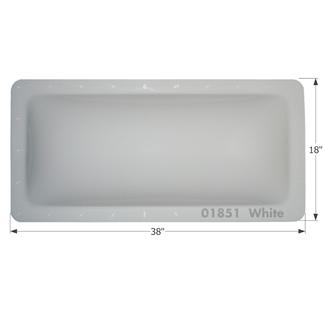 RV Skylight - SL1434W - White