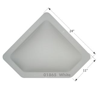 RV Skylight - NSL208W - White