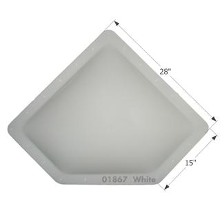 RV Skylight - NSL2412W - White