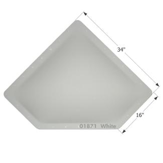 RV Skylight - NSL3013W - White