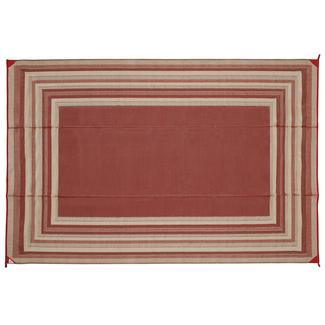 Reversible Striped Design Patio Mat, 9' x 12', Terracotta/Tan