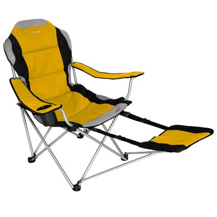 Sportline - Xl Quad-Fold Chair W/ Footrest - Yellow
