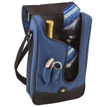 Barossa Picnic Basket- Navy w/ Blue Stripe