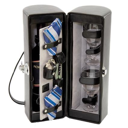 Harmony Wine Cooler- Black w/ Gray and Blue stripe