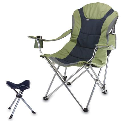 Reclining Camp Chair w/Footrest- Sage Green