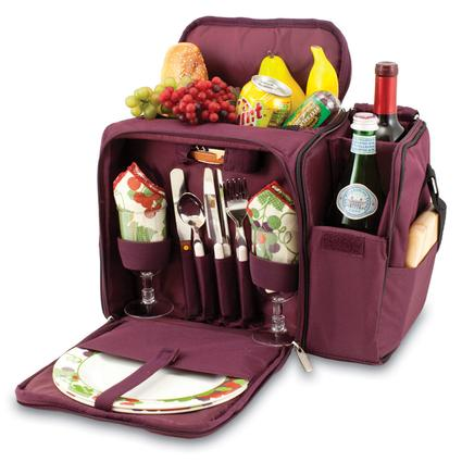 Malibu Picnic Basket - Burgundy w/Nouveau Grape