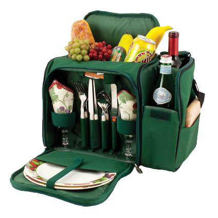 Malibu Picnic Basket - Hunter Green w/Nouveau Grape