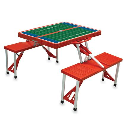Picnic Table SPORT- Red w/Football Field
