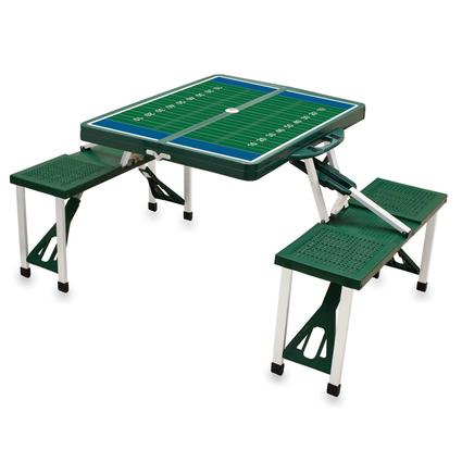 Picnic Table SPORT- Hunter Green w/Football Field