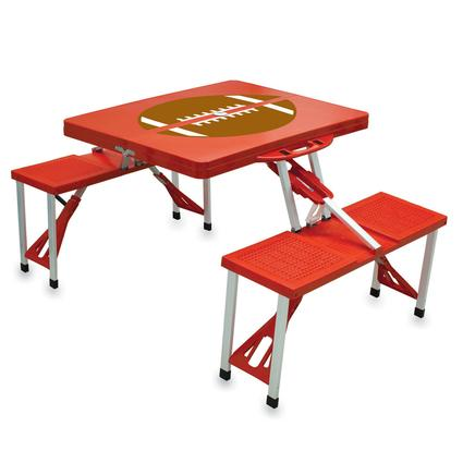 Picnic Table SPORT- Red w/Football