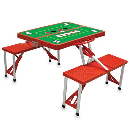 Picnic Table SPORT- Red w/Poker