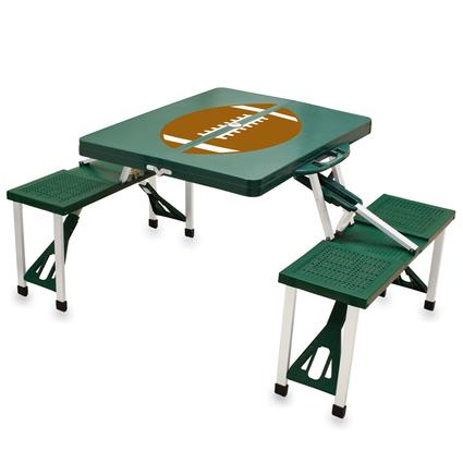 Picnic Table SPORT- Hunter Green w/Football