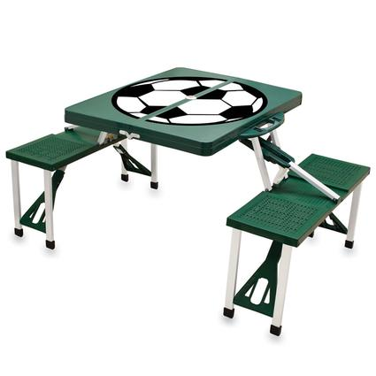 Picnic Table SPORT- Hunter Green w/Soccer