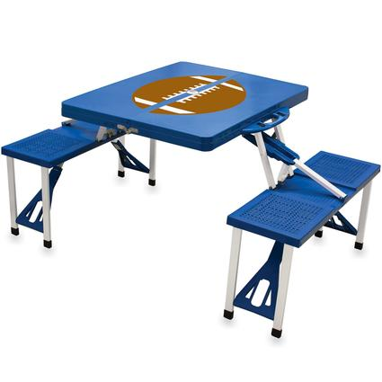 Picnic Table SPORT- Blue w/Football