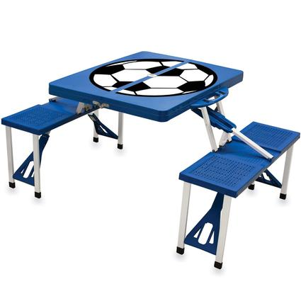 Picnic Table SPORT- Royal Blue w/Soccer
