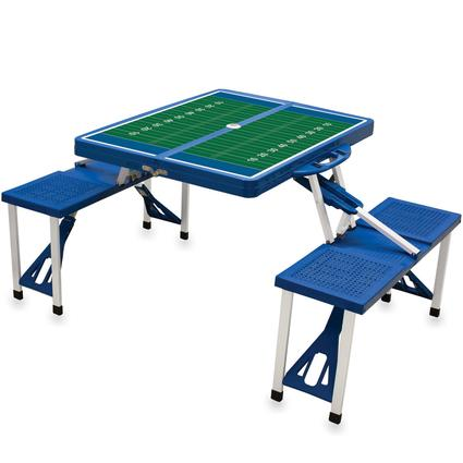 Picnic Table SPORT- Royal Blue w/Football Field