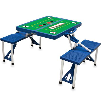 Picnic Table SPORT- Royal Blue w/Poker